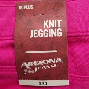 a468afc2dc2 Arizona Jean Company Pants - Arizona Pink Knit Jeggings New With Tags plus  Size